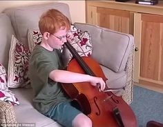 Talent: There's footage of a young Ed learning to play a variety of instruments...
