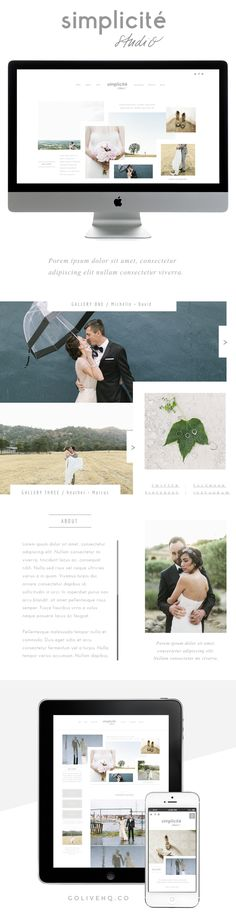 Simple and Dynamic web design for photographers