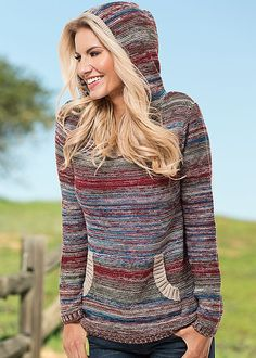 Red Multi Multicolored hoodie from VENUS. Sizes XS-XL!