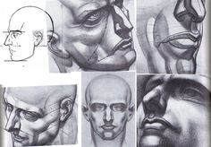 Burne Hogarth head studies