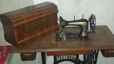 Antike Nähmaschine Teutonia / nicht funktionsfähig in in Bochum (Teutonia sewing machine) VS