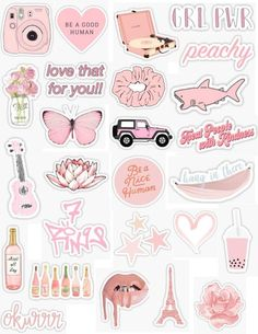 Pink Stickers 2 - Laptop - Ideas of Laptop - pink sticker pack pink stickers light pink peachy pink peach baby pink pastel pink light retro vintage sticker pack overlays edits hydroflask stickers laptop stickers phone case stickers trendy cute ae Planner Stickers, Phone Stickers, Cool Stickers, Journal Stickers, Scrapbook Stickers, Wallpaper Stickers, Kawaii Stickers, Laptop With Stickers, Decorative Stickers