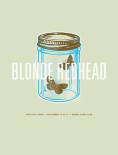 blonde redhead poster by the small stakes by whorange Gig Poster, Jason Munn, Singer Songwriter, Blonde Redhead, Indie, Double Dare, Punk, Band Posters, Festival Posters