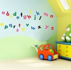Make your child learn his/her ABCs through a wall mural! Alphabet wall mural and decals let your kid turn letters into words right on your walls. InkShuffle wall murals are removable so you can take it off when your kid outgrows his ABC without damaging the walls.