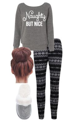 """""""Christmas pyjamas #1"""" by kirstinfaithb ❤ liked on Polyvore featuring Victoria's Secret, women's clothing, women's fashion, women, female, woman, misses and juniors"""