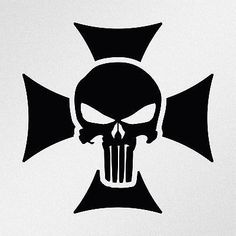 Punisher Skull Maltese Cross Car Body Window Bumper Vinyl Decal Sticker