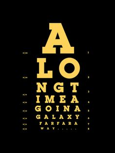 Jed Eye Chart (yellow version) Art Print | Society6