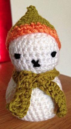 Crocheted Christmas Snowman