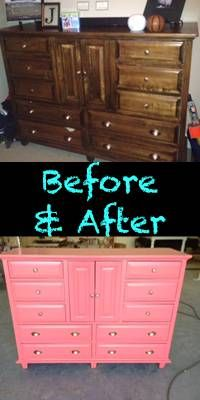 Old Junk Dresser In The Living Room Made Into A Dreamy Girls Bedroom Dresser.  SEE