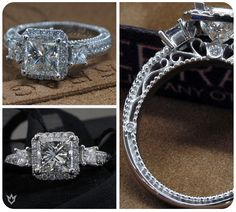Venetian-5063 with a three diamond top look and Venetian Collection signature styling from @Verragio Learn more> http://www.verragio.com  #EngagementRings