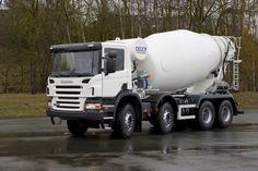 Scania twin steer concrete mixer