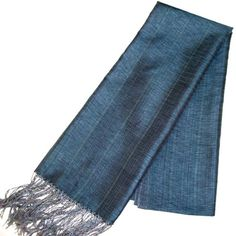 Scents and Feel 100-Percent Textured Silk Shawl Wrap, Teal
