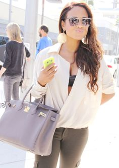 The Voice social media correspondent Christina Milian out and about, looking cute as ever! #TheVoice