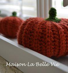 Maison La Belle Vie crafting: Patroon gehaakte pompoen..., haken, gratis patroon, crochet, free pattern (Dutch), pumpkin