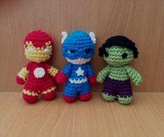 crochet avengers dolls by cutecrochetlapaz on Etsy