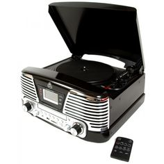 GPO Memphis Turntable MP3 CDPlayer FM Radio