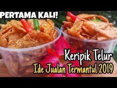 KERIPIK TELUR - IDE JUALAN BELUM ADA YANG BUAT - YouTube Cake Recipes, Snack Recipes, Cooking Recipes, Snacks, Cooking Videos, Easy Cooking, Siopao, Indonesian Food, Street Food