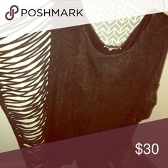 Gimmicks by BKE acid wash top w/cut out sides Dark brown acid wash, cut out sides BKE Tops Blouses
