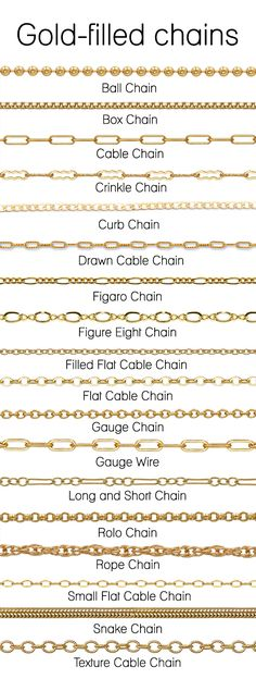 Gold Filled Chain Types And Styles To See More