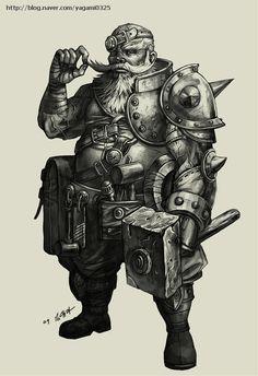 Dwarf Blacksmith by GoddessMechanic.deviantart.com on @DeviantArt