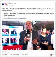 TF1 goes live after the first primary debate in France