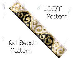 Seed bead bracelet patterns for beginners Loom cuff pattern Loom weaving Beginner beadwork Delica bracelet patterns Bead loom Beaded cuff - weaving patterns Loom Bracelet Patterns, Bead Loom Bracelets, Bead Loom Patterns, Beaded Jewelry Patterns, Beading Patterns, Bead Jewelry, Beading Ideas, Beading Supplies, Bracelet Designs