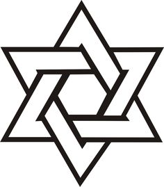 although not this specific design i want an intertwined star of rh pinterest com Jewish Star of David Star of David Template