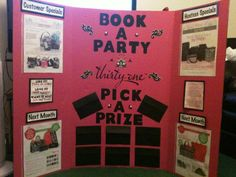 booking board pick a prize. awesome visual board. i'll make one of these