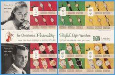 1956 Elgin Watch Christmas Cherub 30 Styles Men's Women's Wristwatch Print Ad | eBay