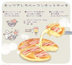 Breakfast Recipes, Dessert Recipes, Desserts, Diet Recipes, Recipies, Food Sketch, Japanese Graphic Design, Food Drawing, Aesthetic Food