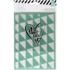 "American Crafts Wanderlust Stamp & Stencil Set 5""X7""-This Is It"