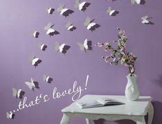 Schmetterlinge Wandtattoo Wanddeko Wanddekoration Wandtattoos Wand Deko 3 D (Diy Deko Jugendzimmer) Butterfly Wall Decor, Butterfly Decorations, 3d Butterfly Wall Stickers, Butterfly Art, Paper Decorations, Wall Decor Stickers, Diy Wall Decor, Wall Decals, 3d Wall
