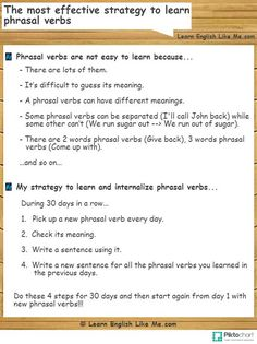 The most effective strategy to learn phrasal verbs_
