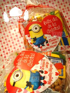 https://www.facebook.com/invitaciones.bombon #Valentine`s #SanValentin #Amor #Love #Amistad  #BeMine #Heart #diseño #Invitaciones #Bombon #InvitacionesBOMBON #candy #minion #despicable #me #bag #favorbag #Yellow #Pink #Red #Dulcero