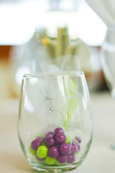 Stemless Wine Glass Favors - 9 Ounce - I can get through work.  Can put wedding color candies in