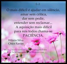 Pensamentos espíritas por Chico Xavier - Hilário Silva