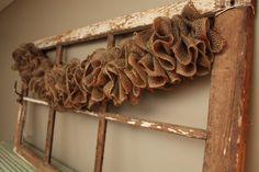 A Rustic Purpose - burlap garland