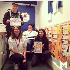 Last night I was lucky enough to appear on the Radio Lollipop radio show at Edinburgh's Sick Kids hospital and see the volunteer board I designed for them last year (the wall on the right). It was a musical theme designed to keep the kids excited around which volunteers would be visiting. Lovely project, great cause and an amazing group of people. Big love   #oldmangrey #edinburgh #sickkidshospital #pipthedog  Instagram.com/oldmangrey