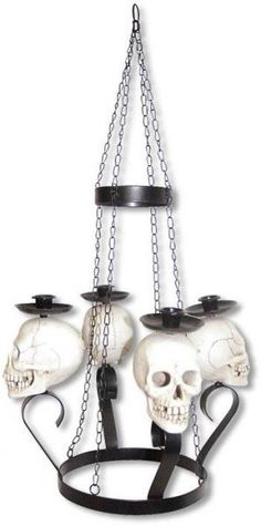 Skull Chandelier 69,90 €.  Halloween Pirate's Nightmare in the Caribbean Party Decorations & Ideas