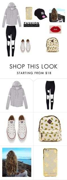 """Untitled #203"" by timcaaa on Polyvore featuring Victoria's Secret, Converse and Nails Inc."