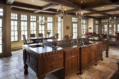 Granite - complex, Concrete, Island, Box, Eclectic, Traditional, Inset, Raised Panel, Transom, Undermount, Glass Panel, Chandelier