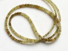 8 Inch Yellow Sparkling Diamonds Yellow Faceted by gemsforjewels