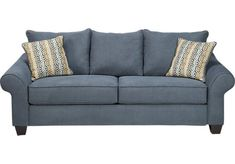 Teal sofa modern sofa and mermaids on pinterest for Affordable furniture greenwood in