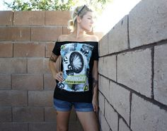 Olivia Paige Diy punk rock shirt top with by Rockabillybaby2010, $27.00
