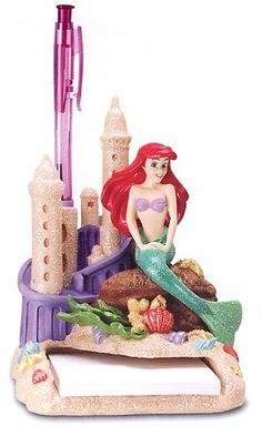 The Little Mermaid Ariel Disney Resin Notepad And Pen Holder Statue 29427 Cute Disney, Disney Dream, Ariel Disney, Ariel Mermaid, Ariel The Little Mermaid, Disney Little Mermaids, Mermaids And Mermen, Disney Princess Babies, Mermaid Bedroom