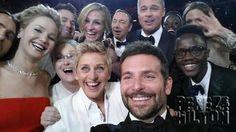 Jared Leto, Jennifer Lawrence, Channing Tatum, Meryl Streep, Ellen Degeneres, Julia Roberts, Kevin Spacey, Brad Pitt, Lupita Nyong'o, Bradley Cooper, Angelina Jolie, and Lupita's brother Peter.
