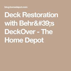 Deck Restoration with Behr's DeckOver - The Home Depot