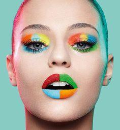 Image via We Heart It https://weheartit.com/entry/172970965 #colors #girl #makeup