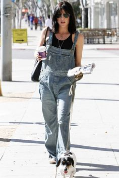 Selma Blair in our favourite spring onesie: #overalls