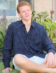 Tropical Palms Aloha Shirt - Hawaiian Gala Design – Twisted Palms Trading Co.